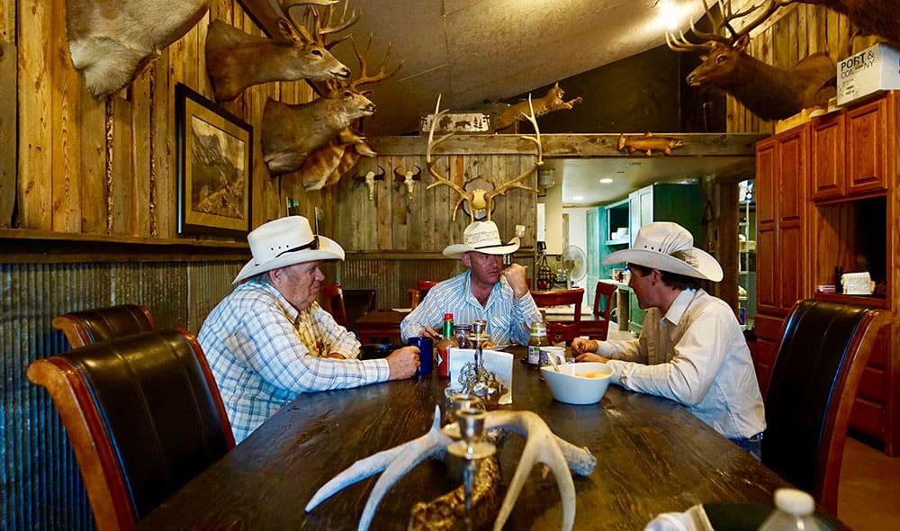 cowboys at table